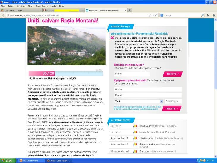 Petitie contra Exploatare Rosia Montana, semneaza si tu  http://www.avaaz.org/ro/save_rosia_montana/?tmxqPcb
